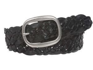 """1 1/2"""" (37 mm) Womens Oval Braided Woven Leather Belt"""