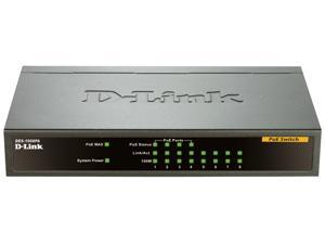 Dlink DES-1008PA 8-Port Fast Ethernet Unmanaged Desktop Switch With 4 PoE Ports