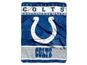"Indianapolis Colts 60""x80"" Royal Plush Raschel Throw Blanket - 12th Man Design"