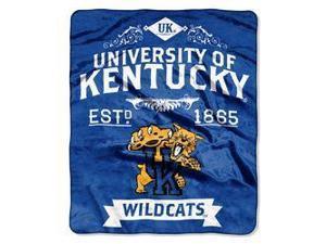 "Kentucky Wildcats 50""x60"" Royal Plush Raschel Throw Blanket -  Label Design"