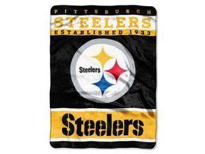"Pittsburgh Steelers 60""x80"" Royal Plush Raschel Throw Blanket - 12th Man Design"