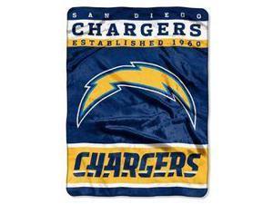 "San Diego Chargers 60""x80"" Royal Plush Raschel Throw Blanket - 12th Man Design"