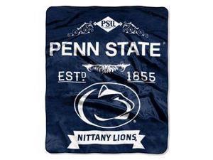 "Penn State Nittany Lions 50""x60"" Royal Plush Raschel Throw Blanket -  Label Design"