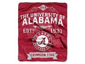 "Alabama Crimson Tide 50""x60"" Royal Plush Raschel Throw Blanket -  Label Design"