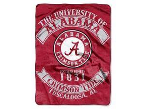 "Alabama Crimson Tide 60""x80"" Royal Plush Raschel Throw Blanket - Rebel Design"