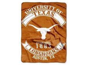 "Texas Longhorns 60""x80"" Royal Plush Raschel Throw Blanket - Rebel Design"