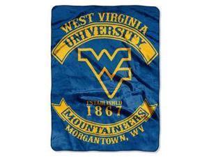 "West Virginia Mountaineers 60""x80"" Royal Plush Raschel Throw Blanket - Rebel Design"