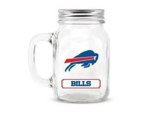 Buffalo Bills Mason Jar Glass With Lid