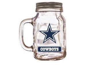 Dallas Cowboys Mason Jar Glass With Lid
