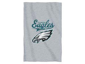 "Philadelphia Eagles 54""x84""Sweatshirt Blanket - Script Design"