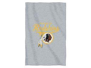 """Washington Redskins 54""""x84""""Sweatshirt Blanket - Script Design"""