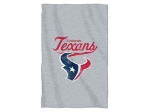 """Houston Texans 54""""x84""""Sweatshirt Blanket - Script Design"""
