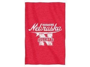"""Nebraska Huskers 54""""x84""""Sweatshirt Blanket - Script Design"""