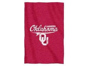 "Oklahoma Sooners 54""x84""Sweatshirt Blanket - Script Design"