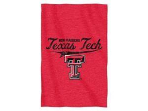 "Texas Tech Red Raiders 54""x84""Sweatshirt Blanket - Script Design"