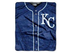 "Kansas City Royals 50""x60"" Royal Plush Raschel Throw Blanket - Jersey Design"
