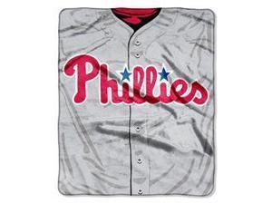 "Philadelphia Phillies 50""x60"" Royal Plush Raschel Throw Blanket - Jersey Design"