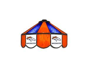 Denver Broncos NFL 16 Inch Billiards Stained Glass Lamp