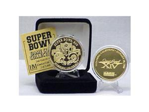 24kt Gold Super Bowl XIV flip coin