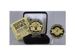 24kt Gold Super Bowl XXVI flip coin