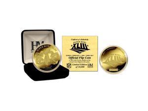 Super Bowl XLIII Steelers v. Cardinals 24kt Gold Flip Coin