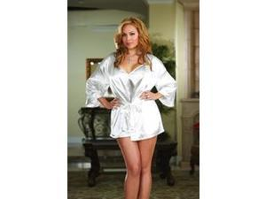 Bride Robe and Babydoll Set (White) Adult Plus - 1X/2X