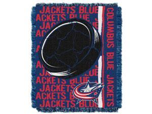 Blue Jackets  48x60 Triple Woven Jacquard Throw - Double Play Series