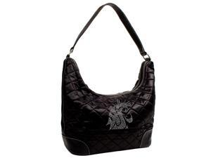 Washington State Cougars NCAA Sport Noir Quilted Hobo
