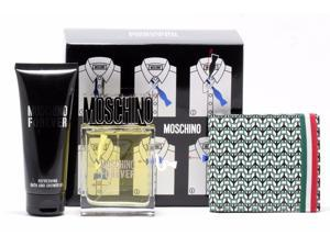 MOSCHINO FOREVER 3 Piece Gift Set for Men w/ Eau De Toilette (EDT) Spray, Shower Gel & Wallet