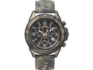 Timex Men's Expedition | Rugged Chronograph Camoflauge Leather Strap | T49987