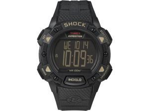 Timex Men's Expedition Black Case Rugged Outdoor CAT Shock Digital Watch T49896