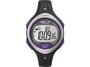 Women's Sport Watch   Heart Rate Monitor Black/Purple Timex Road Trainer T5K723