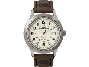 Timex Men's Expedition | Natural Dial Leather Strap Date Indiglo | Watch T49870