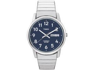Dress Watch Men's | Silver-Tone Case Blue Dial Easy Reader Fashion Timex T20031