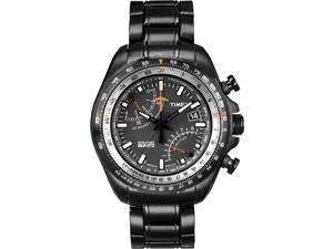 Timex Men's Aviator | Fly-Back Chronograph Slide-Rule Black Bracelet | T2P103
