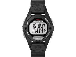 Timex Men's Expedition Digital Chronograph Alarm Timer Black Nylon Strap T49992