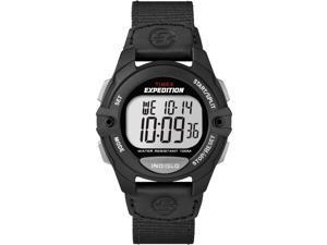 Timex Men's Expedition Digital Chronograph Alarm Timer Black Nylon Strap T49992