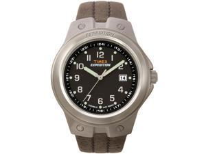 Timex Men's Expedition | Silver-Tone Case Brown Leather Strap | Watch  T49631