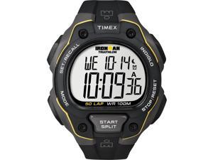 Men's 50-Lap Sport Watch | Chronograph Gray Case Black Band Timex Ironman T5K494