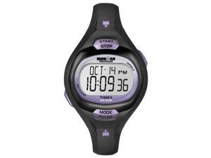 Timex Ironman Women Black Case Strap Pulse Calculator Digital Sport Watch T5K187