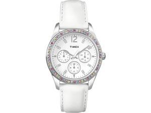 Timex Women's | White Dial Multicolored Swarovski Crystals | Dress Watch T2P385