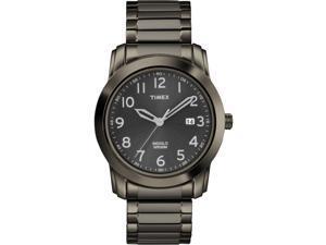 Timex Men's Elevated Classics Gray Plated Case Date Quartz Wrist Watch | T2P135