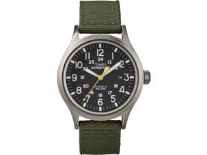 Timex Men's Expedition | Silver-Tone Case & Green Band | Scout Watch T49961