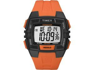 Timex Men's Expedition | Orange Strap Black Case | Durable Digital Watch T49902