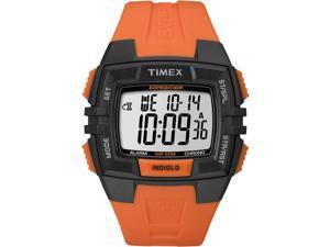 Timex Men's Expedition | Orange Strap Black Case | Durable Digital Watch T49902