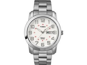 Timex Men's | Silver-Tone Case & Band | Elevated Classic Sport Chic Watch T2N437