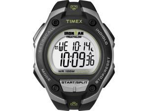 Timex T5K412 Ironman Men's Digital 30-Lap Watch - Black Case & Gray Accents