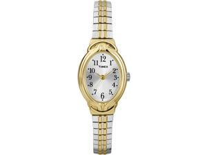 Timex Women's | Two-Tone Band & Oval Case | Elevated Classics Dress Watch T2N980