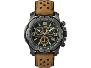 Timex Men's Expedition Sierra Tachymeter Shock-Resistant Leather Strap TW4B01500