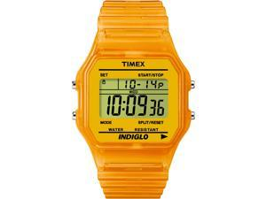 Timex Classic Digital | Orange Translucent Case and Strap | Watch T2N807